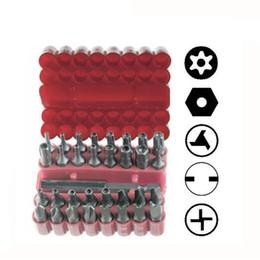 Embout de tournevis hexagonal en Ligne-33pcs Torq Torx Hex Star Spanner Tri Wing Tournevis Support magnétique Sécurité Tamper Proof Bit Set