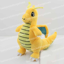 """Wholesale Wholesale Comics For Sale - Hot Sale Poke Pocket Monsters Dragonite 9"""" 23cm Plush Doll Stuffed Toy Pikachu Animals For Baby Gifts"""