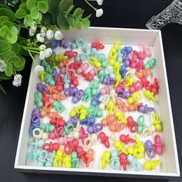 Wholesale Mini Acrylic Clear Baby Pacifier - Wholesale-HOt CLEAR New 50Pcs Muit Color Infant Mini Pacifiers Baby Shower Favor Acrylic Clear Blue Pacifier Girls Boy Decor Party