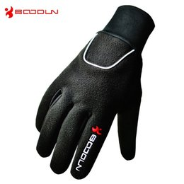 Wholesale 1Pair BOODUN Winter Skiing Gloves High Quality Outdoor Sports Waterproof Anti Slip Professional Hiking Gloves Fishing Gloves