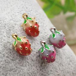 Wholesale Imitation Fruit - Women's Fruit Strawberry Earrings Fashion Creative Jewelry 2017 Hot Brand Earring Ear Stud Beautiful Accessories Free Shipping