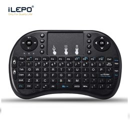Wholesale Combo Mini Teclado - Mini Wireless rii i8 mouse keyboard with Touchpad 2.4G Fly Air Mouse Combo Teclado for HDPC Win7 Pad PS3 Andriod TV Box