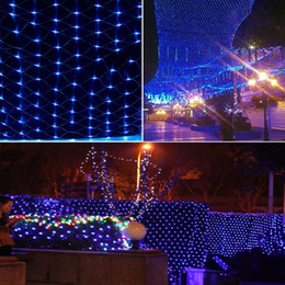 Rgb led net lights à vendre-120 Leds 1.5 * 1.5M LED Net Light Noël Lumières de fées décoratives rgb pour Home Garden Wedding Xmas Party Valentine