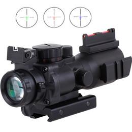 Visão óptica sniper on-line-4x32 Acog Riflescope 20mm Dovetail Reflex Óptica Scope Visão Tático Para A Caça Rifle Airsoft Sniper Magnifier Air Soft