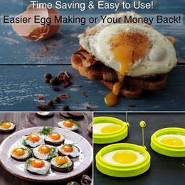 atacadores de ovos Desconto Chegada nova Forma Redonda Silicone Omelete Molde Forma para Ovos Fritura Panqueca Cozinhar Molde Essencial de Café Da Manhã