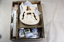 Wholesale Diy Guitar Body - DIY 6 strings Electric Guitar Kit With Basswood Body Rosewood fretboard Model Offer Customized