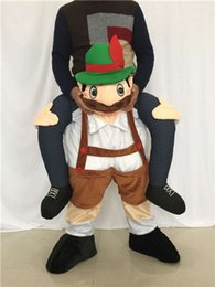 Wholesale Mascot Human - Adult Carry Me Ride on Mascot Costumes Halloween Costume Funny Fancy Dress Sexy Frog Pants With False Human Legs