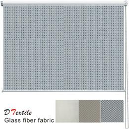Wholesale vertical blinds fabrics - Wholesale-Hot-selling fireproofing dustproof fiberglass fabric kitchen finished sunscreen roller blind 9813