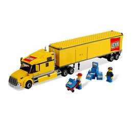 Wholesale Building Blocks Truck - Lepin 02036 City Yellow Truck Building Block Set Toy 298Pcs Compatible with 3221 For Boys no box