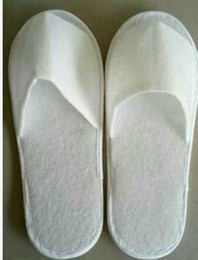 Wholesale Hot Booties Wholesale - Hot sale New Cheap sell wholesale Disposable Slippers White Hotel Babouche Travel Beach Guesthouse free shipping