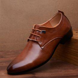Wholesale Big Heels For Men - Big Size Men's Shoes Spring Autumn Mens Fashion Leisure Leather Shoes Black Brown Oxford Shoes for Men Flats Breathable 8