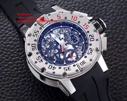 Wholesale Titanium Diving Watches - Luxury High Quality Watch NOOB Factory 50mm x 17.8mm Skeleton Dive Chronograph 300M Titanium RMAC2 Chronograph Automatic Mens Watch Watches