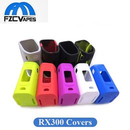 Wholesale Cooler Foods - Wismec Reuleaux RX300 Silicon Case Cover 100% Food Grade Protective Sleeve Various Colors DHL Shipping 30pcs MOQ Cool