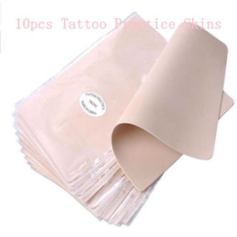 Wholesale Tattoos For Beginner Artists - Wholesale-10pcs lot Permanent Makeup Tattoo Practice Skins Blank Tattoo Practice Fake Skins Best Quality Double Sided For Beginner Artists