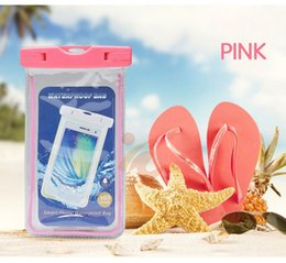 Wholesale Led Water Roses - For iphone 7Plus Waterproof LED Case Samsung S7 Edge Cell Phone Clear Waterproof Bags with Underwater Pouch Lanyard for samsung galaxy s9