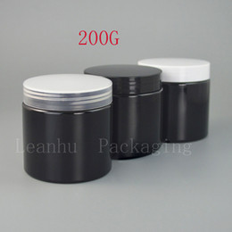 Wholesale Glass Makeup Containers - Black Cosmetics Packaging Cream Jar,Empty Cream Jars Cosmetic Packaging,200CC DIY Personal Care Solid Ointment Makeup Container