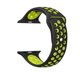 Wholesale Smart Watch Bulk - Good Quality Sport Silicone More Hole Straps Bands For Apple Watch Series 1 2 Strap Band 38 42mm Bracelet 30pcs bulk order DHL free shipping