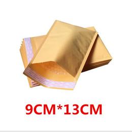 Wholesale Envelope Ship - Wholesale-100 pcs 90x130+40mm Padded Envelopes Bags Bubble Mailers KRAFT BUBBLE MAILERS MAILING ENVELOPE BAG Free Shipping