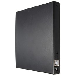 Wholesale Laptop Dvd Drive External Enclosure - Wholesale- Portable Slim USB 2.0 DVD CD DVD-Rom IDE Cover DVD RW Burner ROM Drive External Case Enclosure Caddy Laptop Notebook