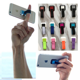 Wholesale Grips Soft - 2017 New Design Ungrip Soft Finger Grip for Phone Universal Mobile Phone Ring Lazy Stent Cell Phone Buckle Ring Holder