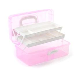 Wholesale Manicure Storage Box - Wholesale- Nail Tool Box 3 Layers Plastic Manicure Box Case for Manicure Nail Salon Equipment Cosmetic Storage Tools BOX, 3 Sizes