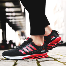 Wholesale Shoes Sneakers Shape Ups - Fashion Men Springblade Sport Sneakers Breathable Spring Blade Shape Razor Sports Running Athletic Shoes for Boys