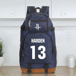 Wholesale Hunt Backpack - landy house 2017 basketball team James Harden Jersey Hakeem Abdul Olajuwon computer backpack shcool bags sports backpack team Souvenirs