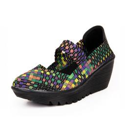 Wholesale weaved sandals - Wholesale-2016 Summer Women Platform Sandals Shoes Women Woven Shoes Flat Shoes Flip Flops Women Multi Colors Ladies Shoes#ZS8