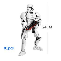 Wholesale Star Space War First order Stormtrooper Building Blocks Buildable Figure Toy Assembly Action Figure Model D Model Collection Gift