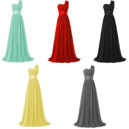 Wholesale Chiffon Lace Special Occasion Dresses - Chiffon One-Shoulder Long Evening Dress Short Sleeves Prom Dresses Long Evening Dress Special Occasion Plus Size Formal Cheap Party Gowns