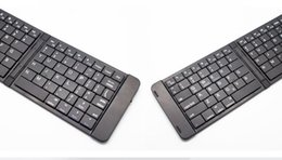 Wholesale Bluetooth Folding Keyboard For Tablet - folding Wireless bluetooth Thin and light keyboard for IOS Android phone tablet universal for Free Shipping