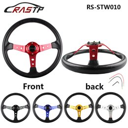 "Wholesale Momo Race - 350MM 14"" MOMO Sport Steering Wheel Deep Corn Racing Car Universal Steering Wheel RS-STW010"