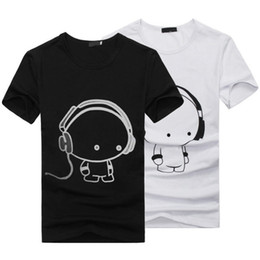 Wholesale Ladies Cotton Shirts Cheap - HOT 2016 New Summer Women Ladies Casual Cute Cartoon Print Funny T Shirt Soft Cotton Couple Clothes Best Friends Tshirt Cheap Z1