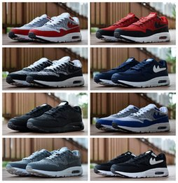 Wholesale Mens Knit Fabric - 2017 New Design Max 87 Ultra knits Running Shoes For Mens Maxes 1 Fashion Athletic Man Sports Trainers Men 87s Sneakers Size 40-45