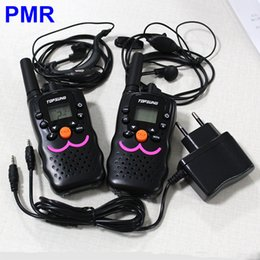 Wholesale Mini Uhf Radio - 2PCS Mini Walkie Talkies VT-8 8 Channels  Radio Transceiver Euro PMR 446mhz CB 2 Way Radios with Earphone Charger