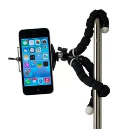 2017 soportes para cámaras digitales Mini Octopus Sponge Flexible MINI Trípode Digital Camera Holder Soporte para Canon Stand Mount para Iphone 7 6S 5 Plus Gorrila Trípodes económico soportes para cámaras digitales