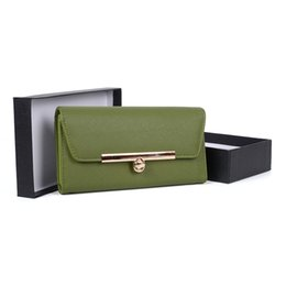 Wholesale Korean Dresses New Fashion - New OL Business Lady Clutch Bag Wallets Holders Gift Box Women Dress Hasp Phone Bag Credit Card Package Multi-bit PU Leather VKP1482