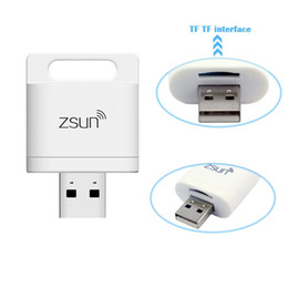 Wholesale 128 Tf Card - WiFi Wireless Smart Card Reader iOS Android Windows System 128 gb Max TF Card