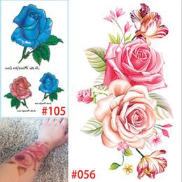 Argentina Al por mayor-19x12cm tatuaje 3D tatuajes temporales brazo tatuajes de flores 3D mujeres a prueba de agua tatuaje arte adhesivo a prueba de agua Suministro