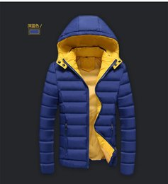 Wholesale Men S Down Jackets Cheap - Wholesale- China cheap wholesale 2016 autumn winter new Men outerwear casual plus velvet hooded thickening keep warm cotton-padded jacket