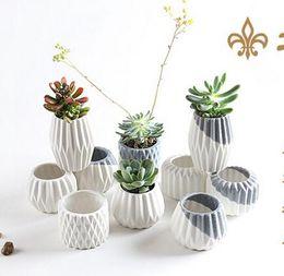 Wholesale Wedding Decorations For Sale - 2017 Ceramic Vases Flowerpot Tabletop Vase Flower Pots Home Decorations for Wedding Party Office Creative Decorations Hot Sale