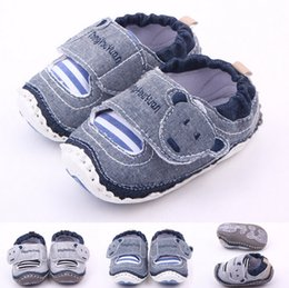 Wholesale First Head - Classic Children Baby Kids Boy Girl Floor Shoes Autumn Fashion Cartoon Bear Head Non-Slip Soft Toddlers First Walkers