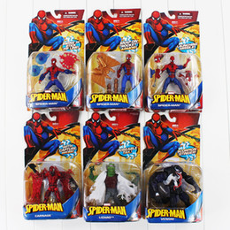 Wholesale Universe Toys - 6Style Universe Marvel Spideman venom carnage lizard pvc figure toy with box