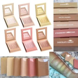 Wholesale Cotton Candy Makeup - 2017 Kylighter Glow Kit Highlighters 6 Style Kylie Cosmetics French Vanilla Cotton Candy & Salted Carmel Highlighter Glow Face Makeup