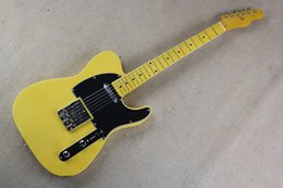 Wholesale Semi Hollow Orange - Free shipping wholesale High Quality F telecaster custom shop telecaster yellow Electric guitar