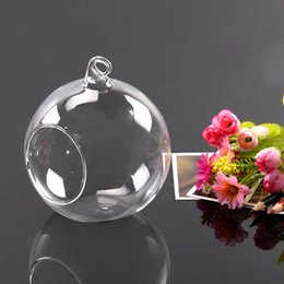 Wholesale Glass Container Vases - 1Pcs Hot Worldwide 10cm Hanging Glass Flowers Plant Vase Stand Holder Terrarium Container