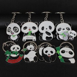 Wholesale Metal Photo Frame Pendant - Hot sale Large Panda Keychain Metal Pendant Tourist Features Chinese Wind Small Gift KR014 Keychains mix order 20 pieces a lot