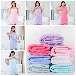 Wholesale Children Textile Wholesale - 75*150cm Soft Bath Towels Coral Fleece Towels Of Strong Water Imbibition Bath Sheets Absorbent Shower Towel Home Textiles CCA6537 30pcs