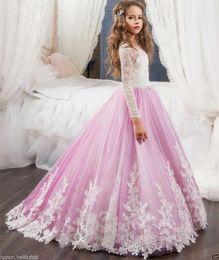 Ragazze abiti da pasqua online-2017 Flower Girl Dress Communion Pageant Wedding Easter Graduation Damigella d'onore Prom