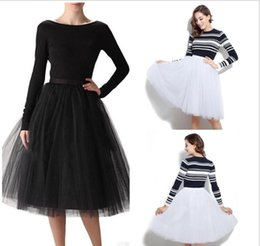 Wholesale Cheap Adult Ball Gowns - Cheap Ball Gown Maxi Tutu Skirts For Women Ruffled Tulle Tea Length Adult Women's Skirts Lady Formal Party Wedding Guest Skirts
